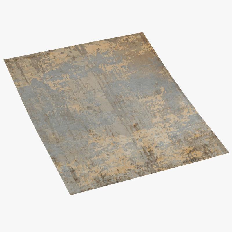 3d model toulemonde bochart memoire rug