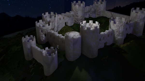 3ds max medieval fantasy marble castle