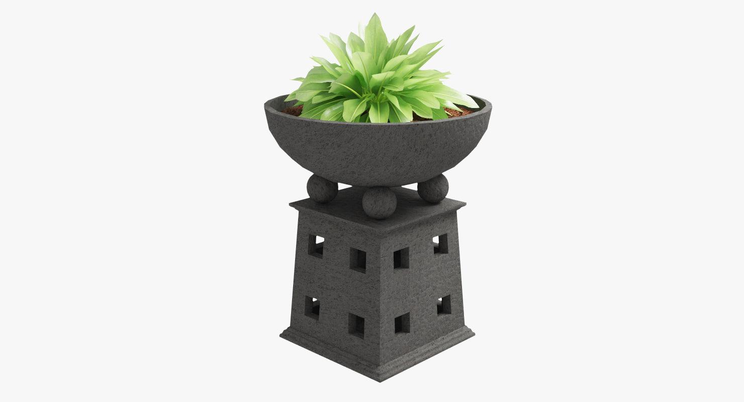 max stone planter