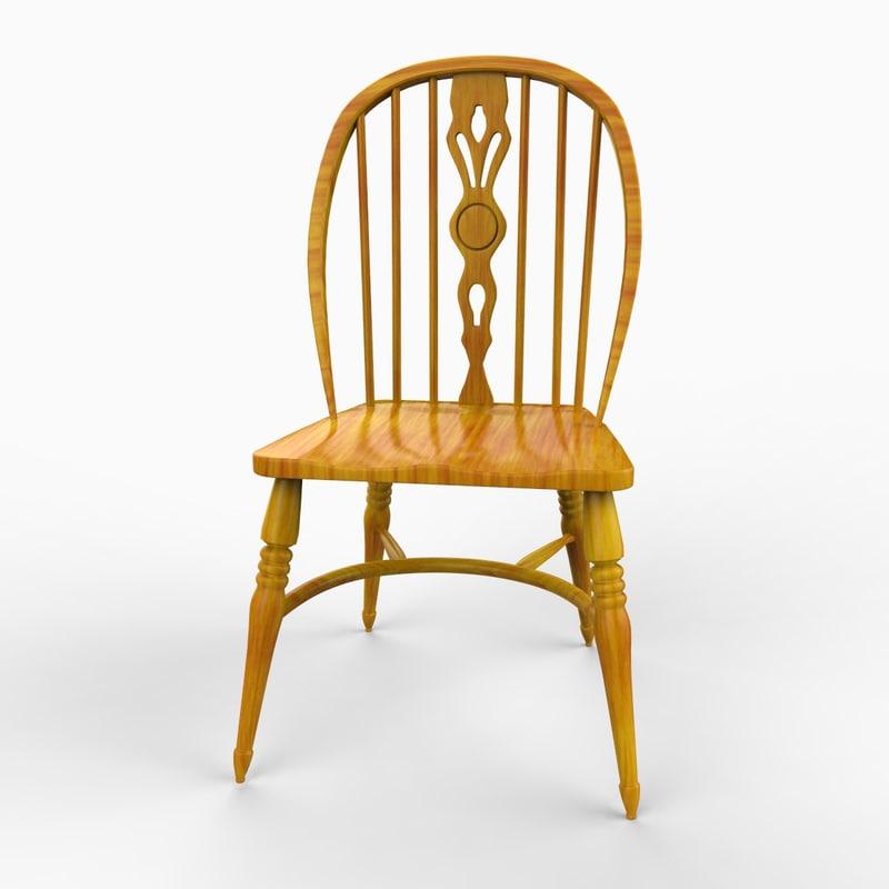 3d english chair furniture model