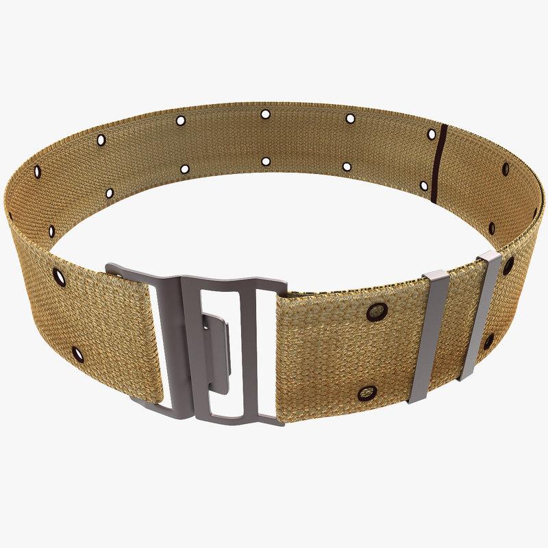 3d military belt