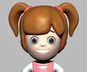cute girl 3d model