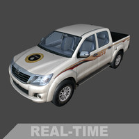3d model time toyota hilux isil