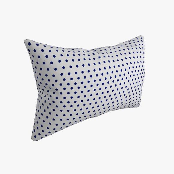 pillow photorealistic 3d model