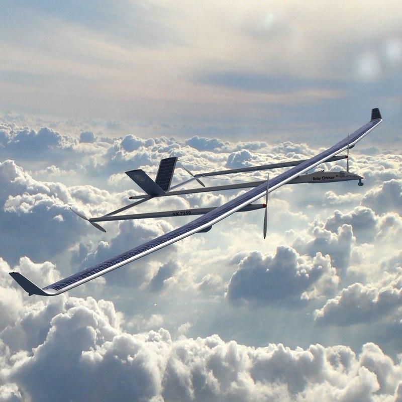 3d solar drone model