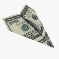 3d paper plane airplane model