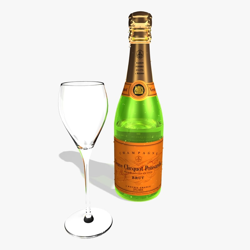 3ds max champagne glass