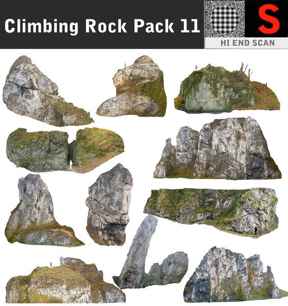 climbing rock pack 11 3d model