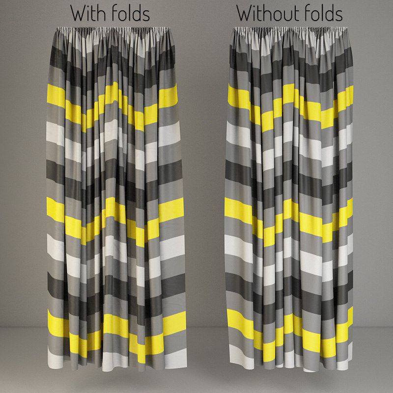 3d model curtains fabric