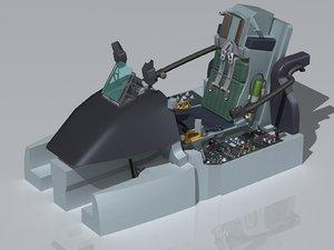 3ds max a-10 thunderbolt cockpit