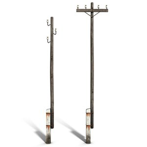 c4d electric line poles