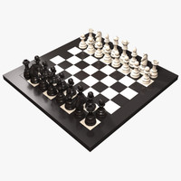 chess rook board 3d max