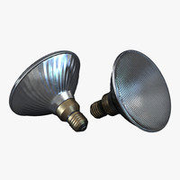 3d flood light bulb