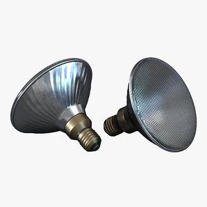 3d flood light bulb