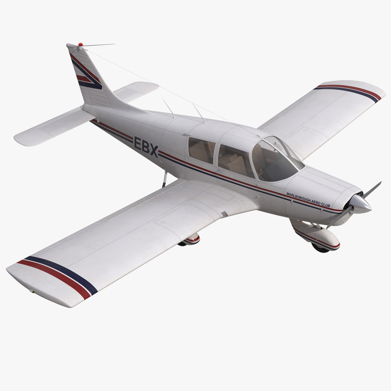 3ds max light aircraft piper pa