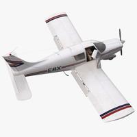 3dsmax light aircraft piper pa