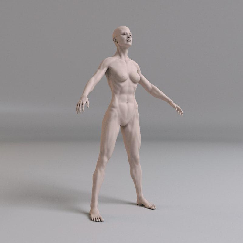 3dsmax fitness female