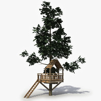 3d model tree observation tower