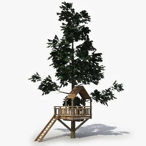 3d model tree observation tower