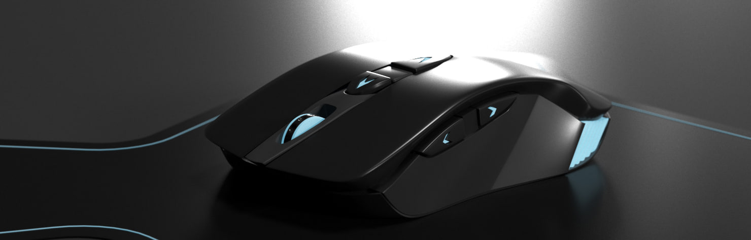realistic bluetooth gaming mouse 3d max