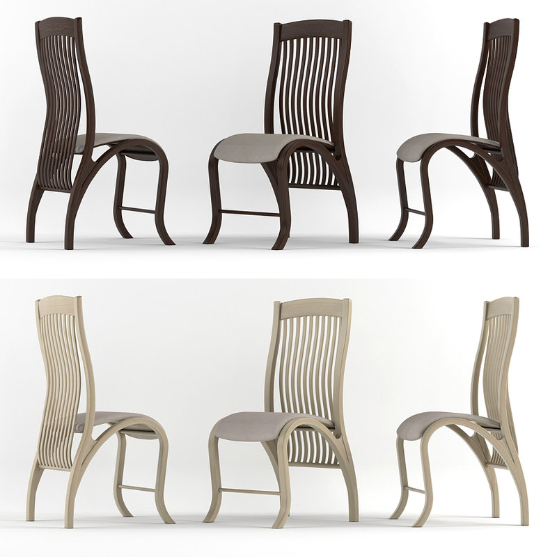 bentwood classic chair wood 3d model