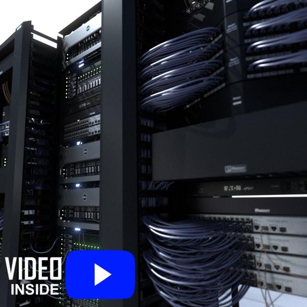 data server network rack 3d model
