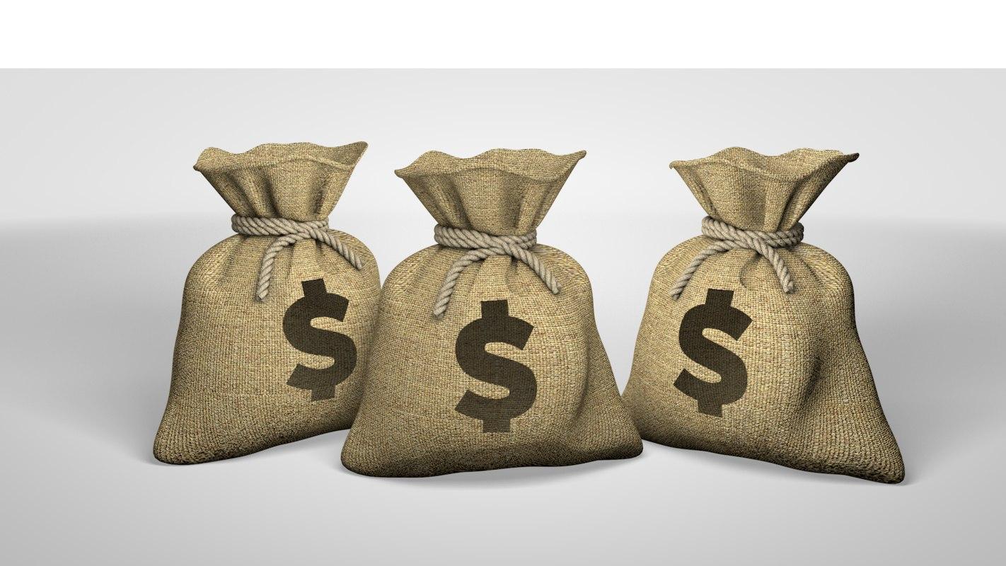 cinema4d money bag