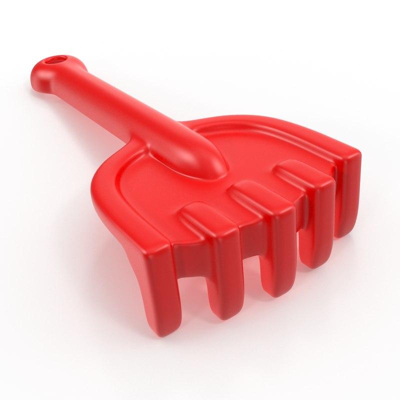 3d model toy rake