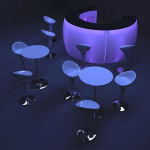 bar furniture 3d 3ds