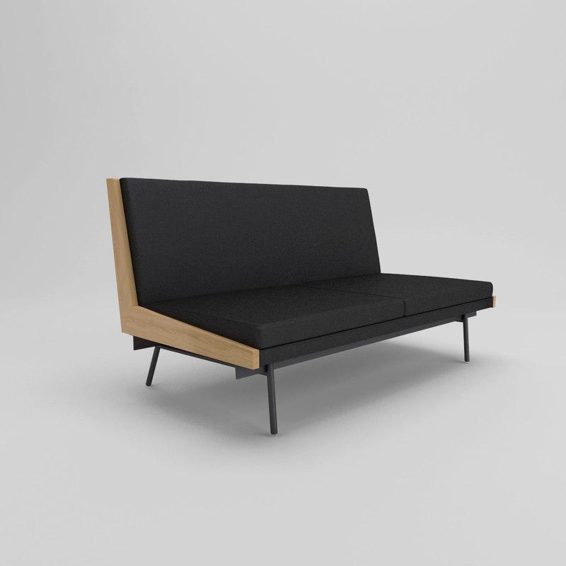 sofa 195 alain richard 3d model