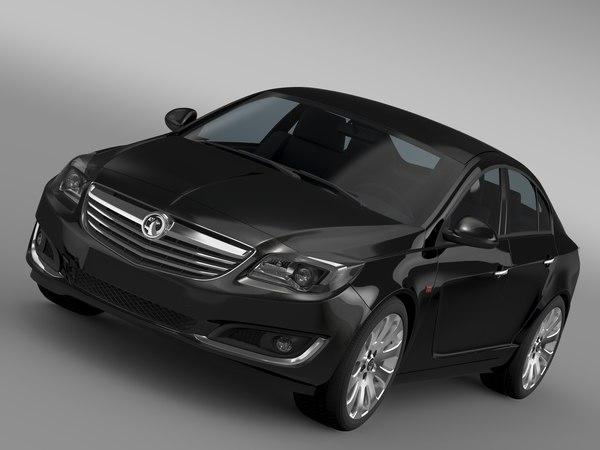 3d model vauxhall insignia turbo 2015