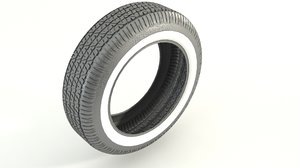 vintage coker tires 3d model