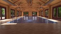 3d model interior pool
