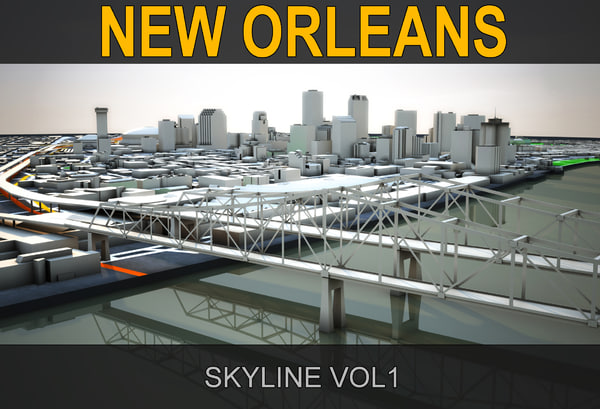 3d model new orleans skyline vol1