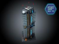 Sci Fi cyberpunk Building  HD (2)