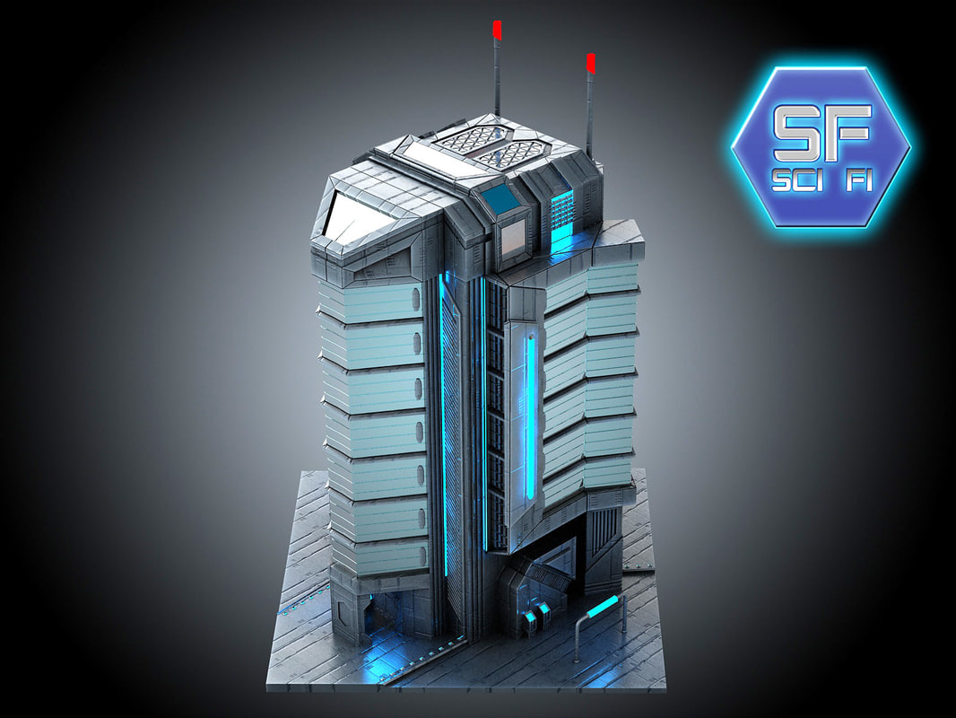 Futuristic City Building D Free