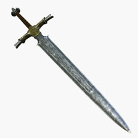 3d greek longsword helios sword model