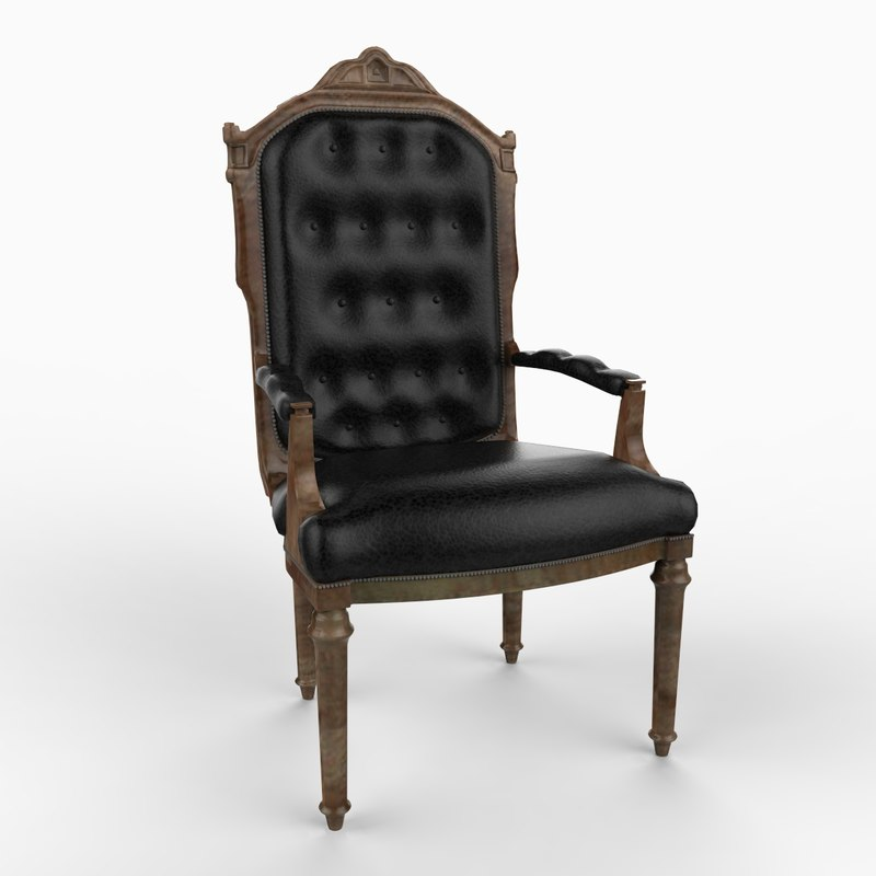 english chair furniture 3d model