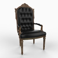 english chair furniture 3d model