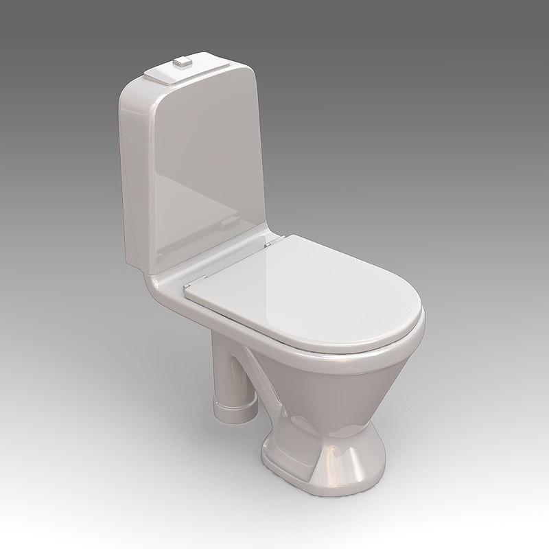 toilet wc 3d x