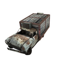 destroyed truck 3d model