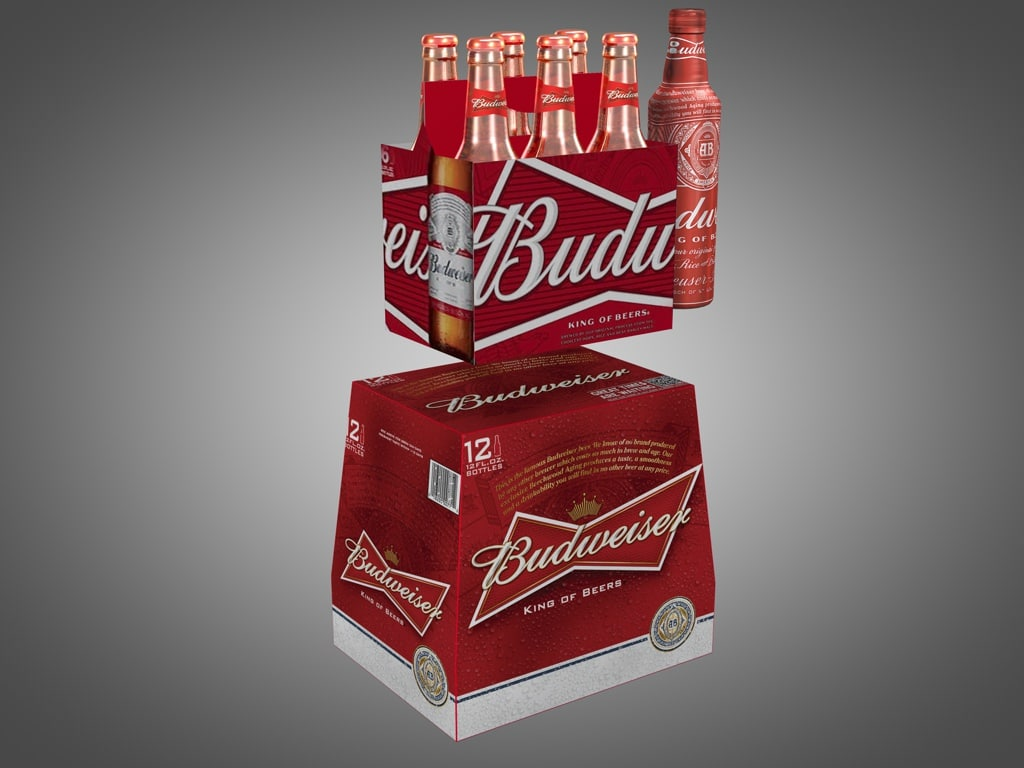 3d model budweiser products