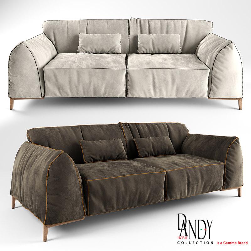 3d model of dandy home sofa kong