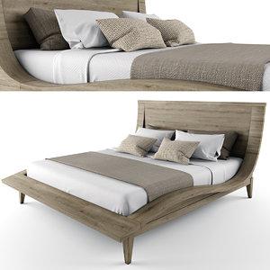 bed blanket pillows obj