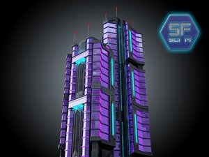 max sci fi futuristic building