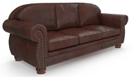 3d model classics leather sofa