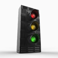 traffic light 3d max