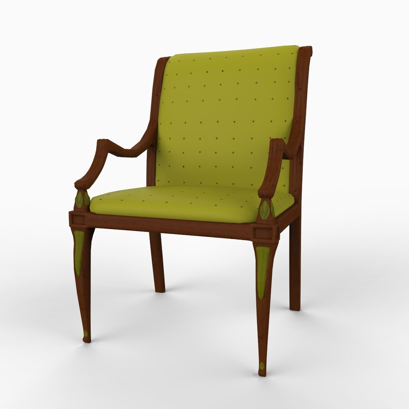 english chair 3d model