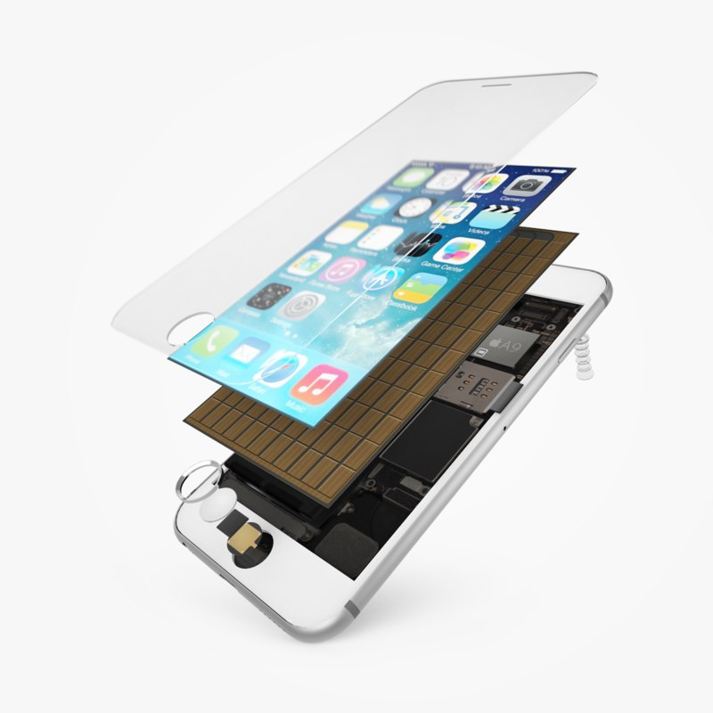 3d max apple iphone 6s phone