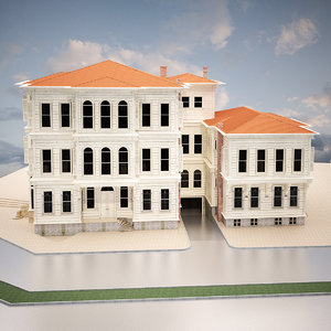 3d old turkish house